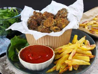 fish and chips vegan plant based